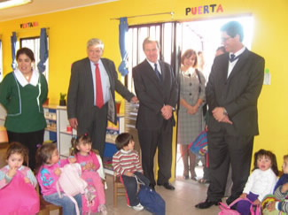 Daycare center funded by U.S. companies and United Way Chile.
