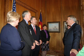 Commercial Service Senior Commercial Officerss speaking with Colorado Governor Bill Ritter