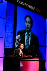 Mike Masserman delivers remarks at Composites 2010