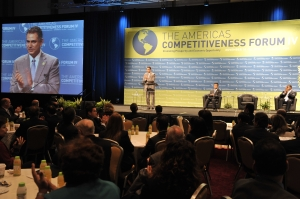 Under Secretary Sanchez opens the Fourth Annual Americas Competitiveness Forum with U.S. Commerce Secretary Gary Locke and Atlanta Mayor Kasim Reed