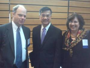 Secretary Locke With Senior Commercial Officers Richard Steffens and Ann Bacher