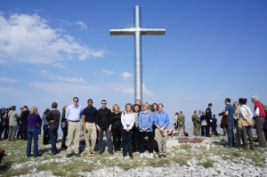 Deputy Under Secretary Michelle O'Neill (3rd from right) at the Ronald Brown memorial in Croatia with staff from Commercial Service Belgrade, Vienna, Zagreb and Washington, DC