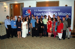 Nicole Y. Lamb-Hale (center) with the India Franchise Trade Mission Delegation