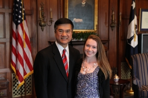 Commerce Secretary Locke with ITA OPA intern Carrie Bevis June 2011