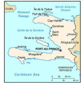 Map of Haiti