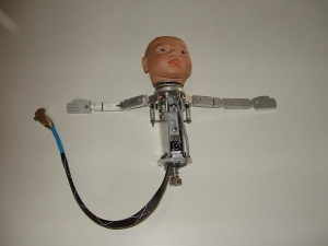 This mechanical infant was designed by the firm at the request of Johns Hopkins to simulate a fetus with adjustable shoulders, imbedded sensors to monitor head rotation, head tilt, and spine stretch so doctors can practice difficult deliveries.