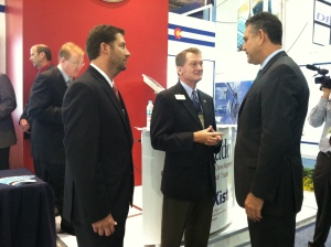 Under Secretary Francisco Sanchez (right) meets with members of the USA Pavilion at GREEN Expo in Mexico