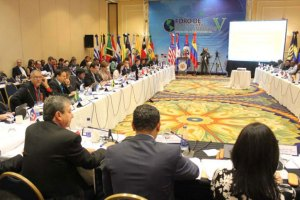 Attendees at the annual meeting of the Inter-American Competitiveness Network (RIAC), which was held during the Americas Competitiveness Forum in Santo Domingo, Dominican Republic. Delegates approved the Santo Domingo Consensus, a set of 10 policy objectives designed to promote a more competitive and prosperous region. (photo courtesy RIAC)