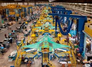 Lockheed Martin's F-35, assembled at the corporation's Aeronautics facility in Fort Worth, Texas, teams with 1,300 domestic suppliers in 47 states and Puerto Rico.