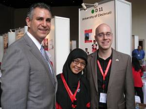 Under Secretary Sánchez with two of the 56 members of the largest education trade mission to Indonesia and Vietnam that took place in March 2011.
