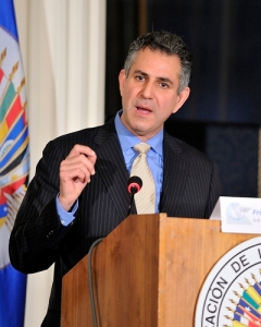 Under Secretary of Commerce for International Trade Francisco Sánchez speaks at Georgetown University during the Making Latin America and the Caribbean a More Equitable Society: Education, Economic Growth, and Corporate Social Responsibility Conference