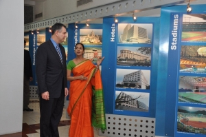 Under Secretary Sanchez tours the Larsen & Toubro engineering facility in Chennai