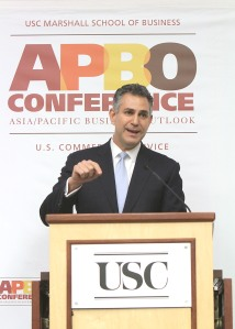 Under Secretary of Commerce for International Trade Francisco Sánchez speaks during the APBO Conference