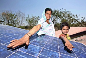 Solar panels installed in India