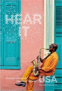 "Jazz Musician as part of Brand USA's ""Discover this land, like never before"" campaign. (Photo Brand USA)"