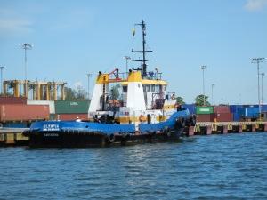 ITA held a training workshop in Tegucigalpa, Honduras. A cargo ship passes thorugh Puerto Cortes, Honduras. (Photo Commerce)