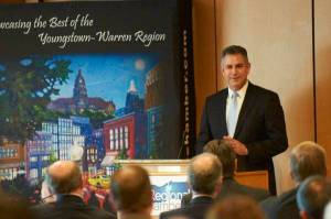 Under Secretary Francisco Sánchez delivers remarks during the TechBelt Export Summit in Youngstown, Ohio. (Photo Youngstown/Warren Regional Chamber)