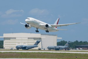Boeing Conducts Inaugural Flight of First 787 Built in South Carolina (Photo Boeing)