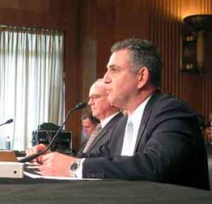 Under Secretary for International Trade Francisco Sánchez testifies at the Senate Foreign Relations Subcommittee on the Western Hemisphere about the importance of trade with Latin American countries. (Photo Commerce)