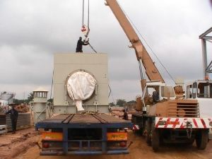One of Combustion Associates 80 MW power plants being assembled in Benin, West Africa (Photo Combustion Associates, Inc.)