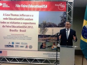 Under Secretary Francisco Sánchez launches the Education Fair in Brazilia, Brazil (Photo Commerce)