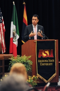 "Assistant Secretary for Market Access and Compliance Michael Camuñez delivers remarks during ""Realizing the Economic Strength of Our 21st Century Border: Trade, Education, and Jobs"""