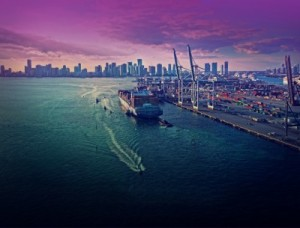 In 2010, the Port of Miami handled $36 billion in merchandise exports. The new foreign trade zone will boost this figure in the future (Photo PortMiami)