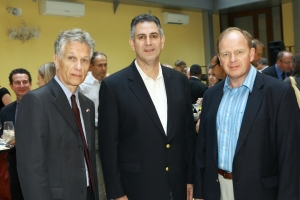 (L-R) U.S. Consul General Bruce Turner, Under Secretary Sánchez, and Oleg Prokhorenko during the SABIT Alumni event held in St. Petersburg, Russia August 2. (Photo Vladimir Grigoryev)