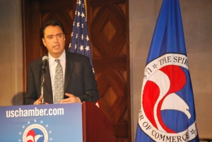 Assistant Secretary Michael Camunez delivers keynote speech at the Defeating Foreign Trade Barriers Workshop at the U.S. Chamber of Commerce.