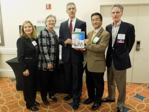 The Trade Finance Guide 3rd edition is released at the 23rd Anual Finance Credit and International Business Association Global Conference. From L-R Marta Chacon, Director, North American Operations, FCIB, Robin Schauseil, President, NACM (FCIB's parent – National Association of Credit Management), Carlos Montoulieu, Acting DAS/Services Industries, Yuki Fujiyama, Trade Finance Specialist, OFSI/MAS/ITA, Ron Shepherd, Director, Membership & Business. Development, FCIB