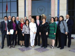 Acting Deputy Under Secretary for International Trade Ken Hyatt (center) poses with participants in the Egypt trade mission.