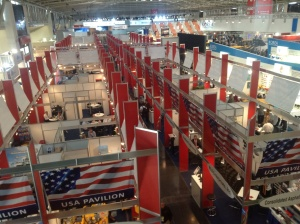 The U.S. pavilion at the baum 2013 trade show.