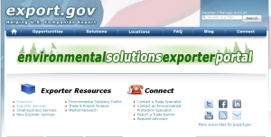 screenshot of environmental solutions exporter portal