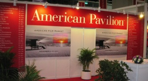 The U.S.A. pavilion at Filmart 2013 in Hong Kong.
