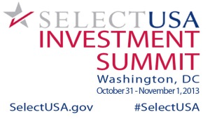 The SelectUSA Investment Summit will be held )ctober 31 to November 1, 2013 in Washington DC. Details are available at SelectUSA.gov