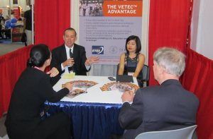 The VETEC team talked about its mission at the Association of International Educators.