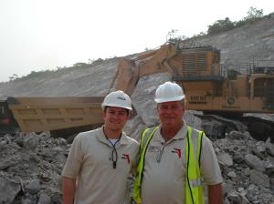 HERO Florida President Leslie Smith (right) stands in a gold mine in Ghana with his son, HERO Vice President Carlton Smith.