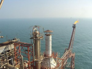 Lightning Eliminaters products protect oil rigs in the Indian Ocean