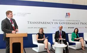 ITA's Adam Boltik presents on public procurement best practices in Bulgaria.