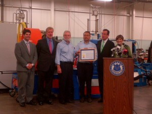 Connecticut small business Test Logic Inc. received an Export Achievement Certificate for its export success.