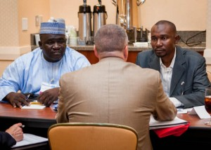 A buying delegation from Nigeria attended the Discover Forum, making connections with American businesses looking to do business in Africa.