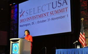 Secretary of Commerce Penny Pritzker reiterated her message that the United States is open for business.