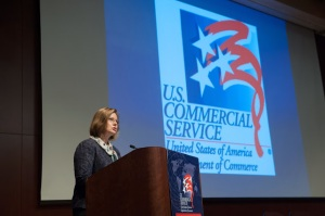 Acting Director General of the U.S. and Foreign Commercial Service Judy Reinke reminded businesses that exporting can be an important way to increase revenues.