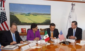 Secretary Pritzker is joined by U.S. Ambassador Wayne and Mexico's Secretary of Economy, Ildefonso Guajardo Villarreal during her trade mission to Mexico City and Monterrey, Mexico.