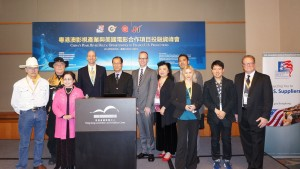 Our team met with U.S. film producers and Chinese investors at Hong Kong Filmart to support investment.