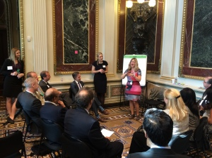 The Design Workshop at the White House featured group activities identifying best practices for entrepreneurs looking to compete overseas.
