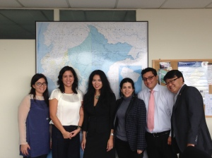 From L to R: Peru's Ministerial Office Cabinet Advisor Carmen Bedoya Eyzaguirre, Peru's Vice Minister of SMEs and Industry Sandra Doig Diaz,  USTR's Christina Sevilla, Peru's Vice-Ministerial Office Advisory Maggy Manrique Petrera, Director of Innovation Alejandro Bernaola Cabrera, and US Embassy in Lima Economic Officer Peter Lee