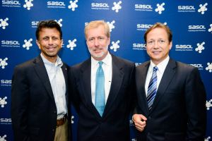 Under Secretary Hyatt (center) joined Louisiana Governor Bobby Jindal (left) and Sasol CEO David Constable to celebrate the announcement of Sasol's new facility in Louisiana.