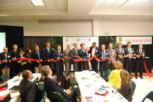 Leaders from Bel Brands USA and the Brookings, SD community joined to cut the ribbon on a new facility that will support an estimated 250 new jobs.