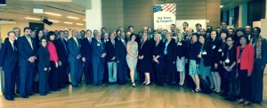 DAS for Manufacturing Chandra Brown and other U.S. Government officials with the U.S. industry delegation at the 7th annual IAEA U.S. Industry Program